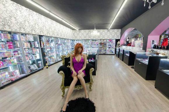 espace de vente de la boutique érotique
